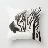 my little pony Throw Pillows featuring My Little Pony by Autumn Steam