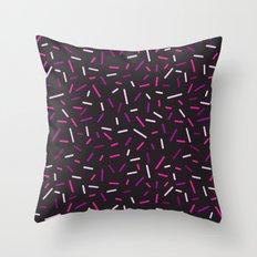 Pink hundreds and thousands  Throw Pillow