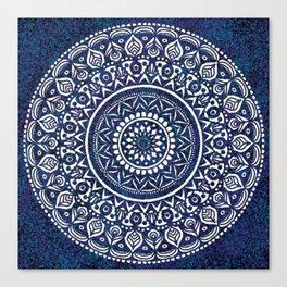 Blue and White Mandala - LaurensColour Canvas Print
