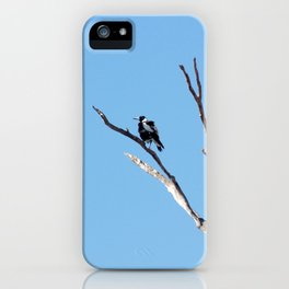 The Magpie that Comes and Goes iPhone Case