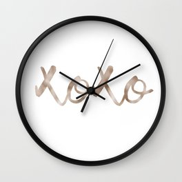 Rose gold XOXO Wall Clock