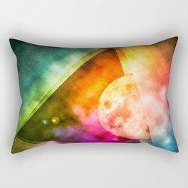 Abstract Full Moon Spectrum Rectangular Pillow