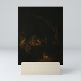 Gerard Dou - The Night School Mini Art Print