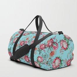 King protea flowers watercolor illustration Duffle Bag