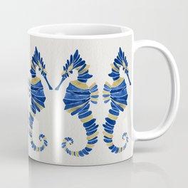 Seahorse – Navy & Gold Coffee Mug