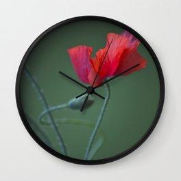 Red Poppy Dance #decor #society6 Wall Clock