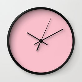 Pink Solid Color Wall Clock