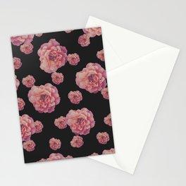 SPRING COMING (After Rene Magritte) Black Stationery Cards
