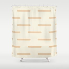 Line by Line Neutral Shower Curtain