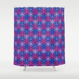 D20 Icosahedron Mandala Pattern Shower Curtain