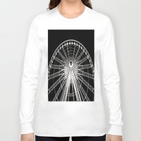 ferris wheel Long Sleeve T-shirts featuring Ferris Wheel by Mack & Mack