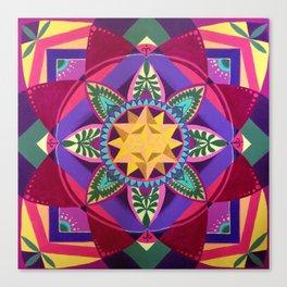 Blooming Metatron Canvas Print