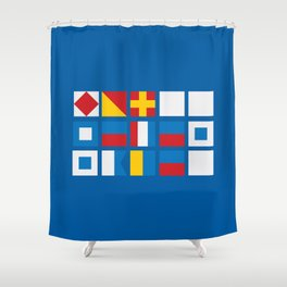 NAUTICAL FOR PETE'S SAKE Shower Curtain