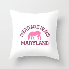 Assateague Island - Maryland. Throw Pillow
