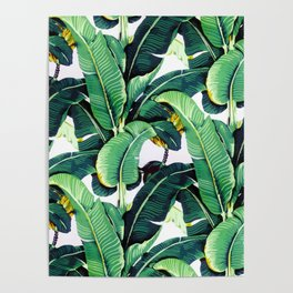 Tropical Banana leaves pattern Poster