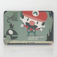 mario bros iPad Cases featuring mario bros 4 fan art by danvinci