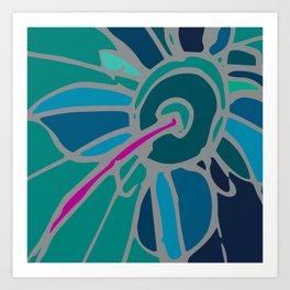 Spring collection - green - flower Art Print