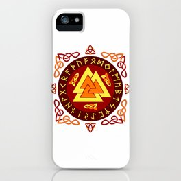 Nordic Valknut iPhone Case