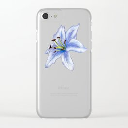 Lavender Lily Clear iPhone Case
