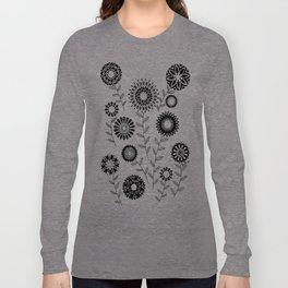 Geometric Flowers 3 Long Sleeve T-shirt