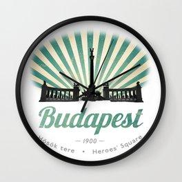 Hősök tere - Heroes' Square - Budapest, Hungary Wall Clock