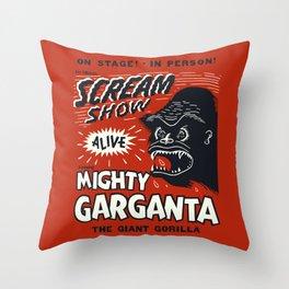 Scream Show Throw Pillow