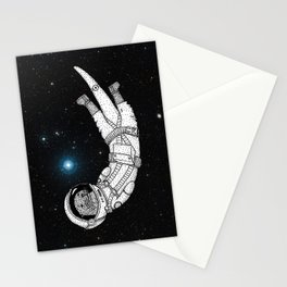 André Floating Around in Otter Space Stationery Cards