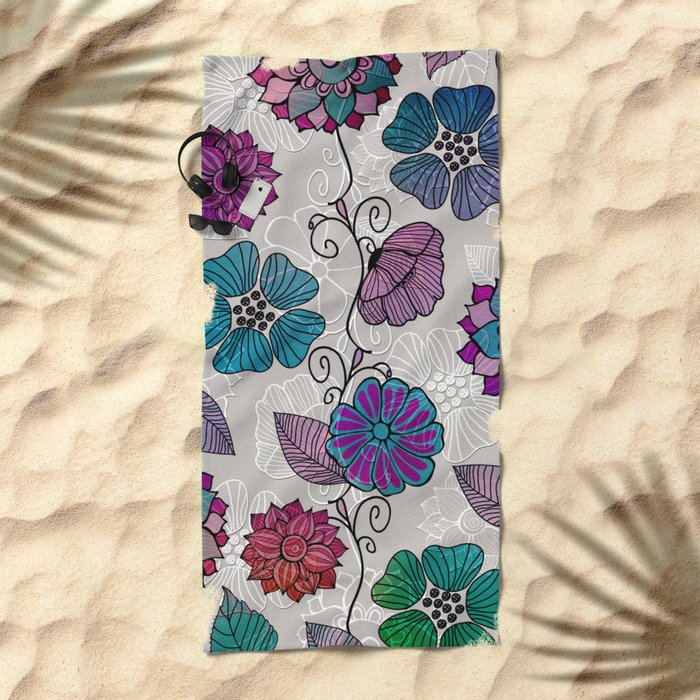 Flower Flow #2 Beach Towel
