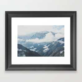 In the Valley of Mountains Framed Art Print