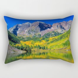 USA Maroon Bells Colorado Nature Mountains Lake Forests landscape photography mountain forest Scenery Rectangular Pillow