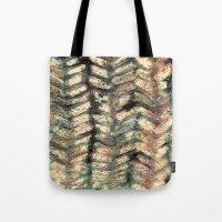 herringbone Tote Bags featuring Herringbone by Janice MacDougall
