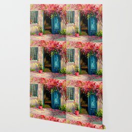 Flower-filled patio Wallpaper
