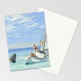Edward Hopper Ground Swell 1939 Painting Stationery Cards