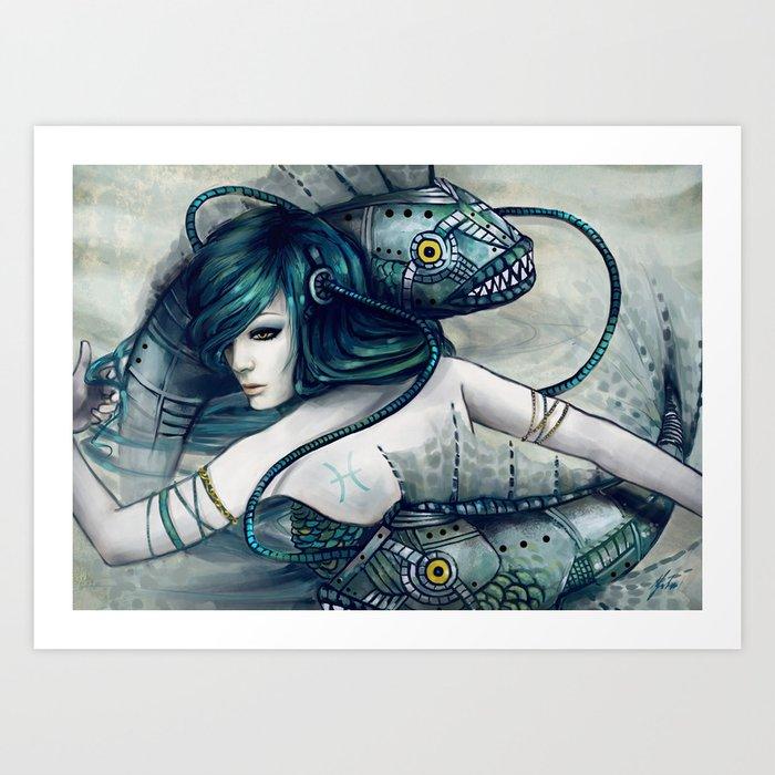 Zodiac Sign Pisces Art Print By Yuhon Society6