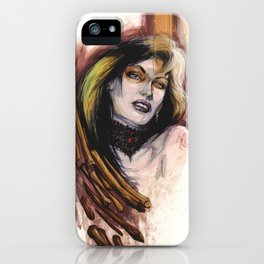 Girl with Bones by Baxa iPhone Case