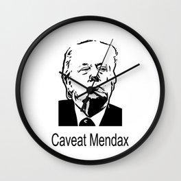 Caveat Mendax Wall Clock