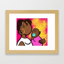 Mom and Baby Love Framed Art Print