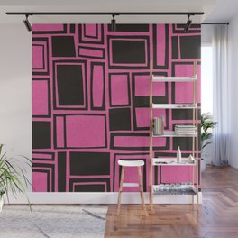 Windows & Frames - Pink Wall Mural