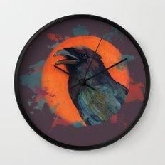 Raven Sun Wall Clock