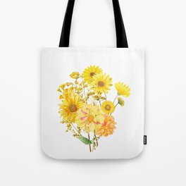 Vintage & Shabby Chic - Late Summer Flowers Tote Bag