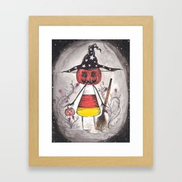 Trick or Treat (Witch) Framed Art Print