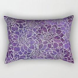 Dahlia Flower Pattern 3 Rectangular Pillow