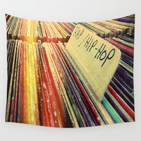 rap Wall Tapestries featuring I'll Take Rap/Hip-Hop for 1,000 by Danielle DePalma