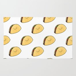 Taco Pattern White Background Rug