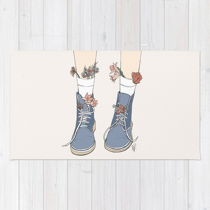Boots Rug By Rebeccaflattley Society6