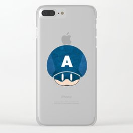 Captain Shroomy Clear iPhone Case