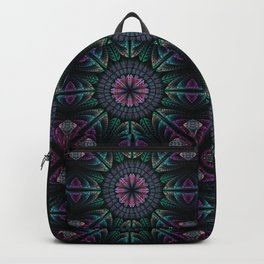 Magical dream flower, fractal abstract Backpack