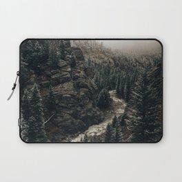 Snowy Colorado River, Rocky Mountains Laptop Sleeve