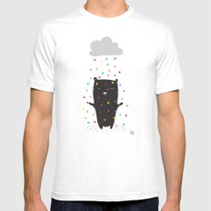 The Happy Rain Mens Fitted Tee MEDIUM White
