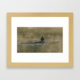 Sculling at Sunrise Framed Art Print